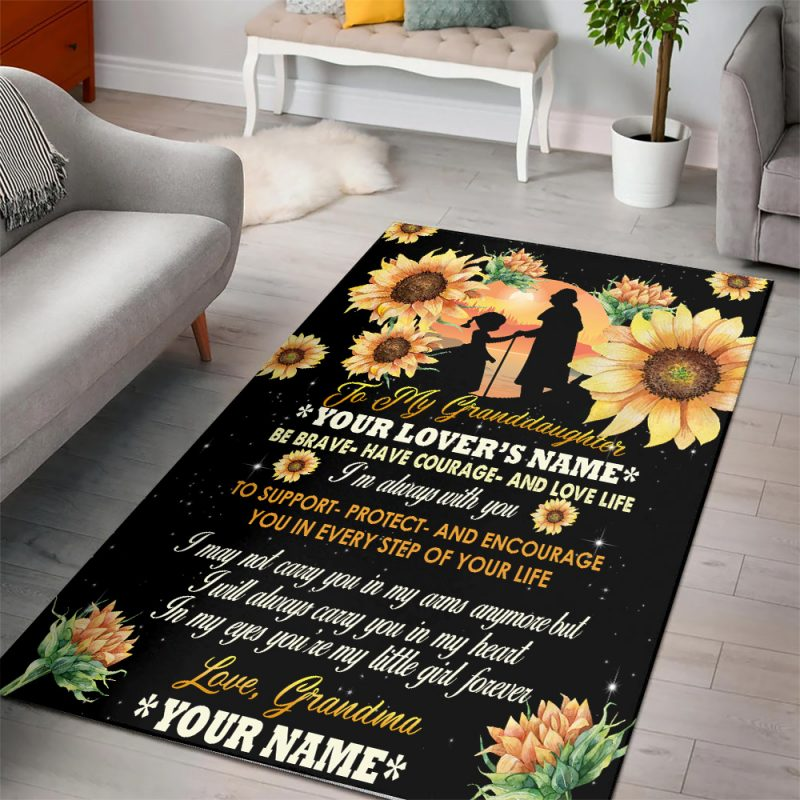 Personalized Rug for Granddaughter