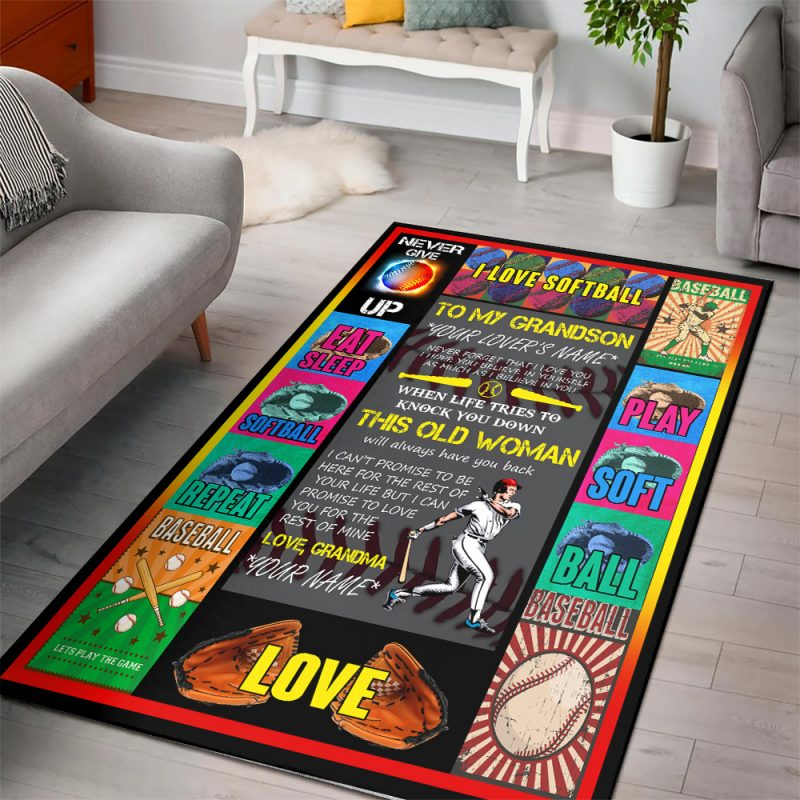 Personalized Rug for Grandson
