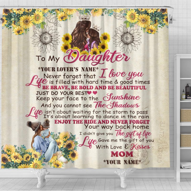 Personalized Shower Curtain For Daughter