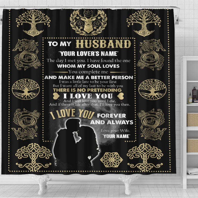 Husband Shower Curtain