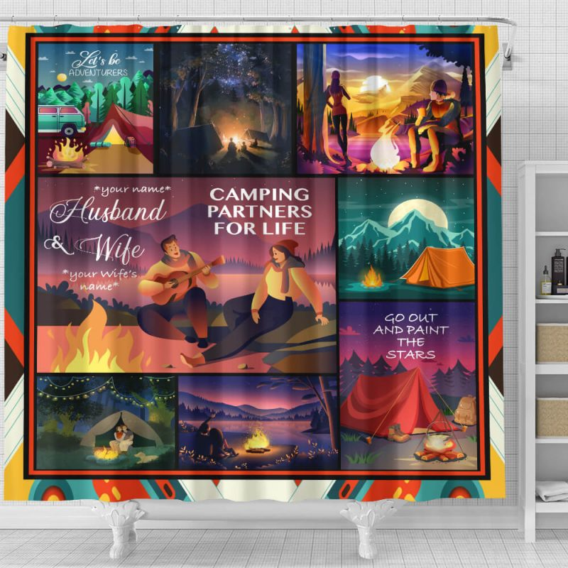 Shower Curtain Camping