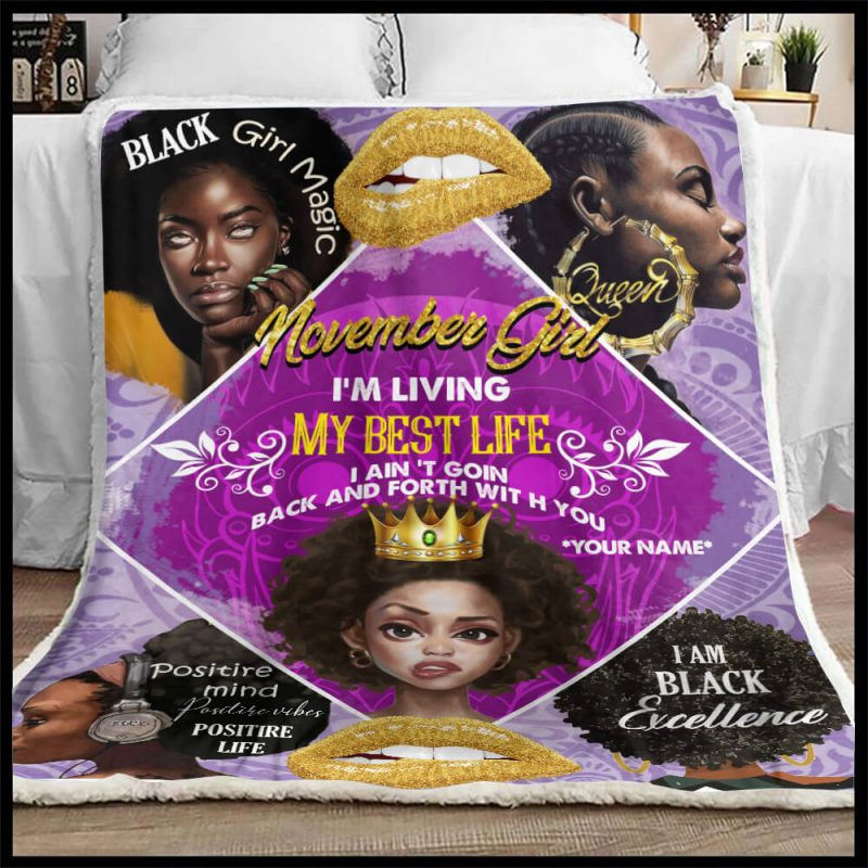 Black Woman Blanket